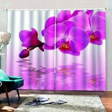 Современные украшения для дома затемненные 3D занавески стереоскопические реалистичные розовые цветы Красивые фото Модные индивидуальные 3D занавески s