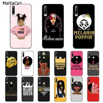 MaiYaCa Melanin Poppin Queen Afro Black Girl Magic rock Phone Case for huawei Y 7S 7 PRO 9 6 Y5 PRIME 2018 Y7 9 5 6 PRO 2019 image