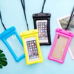 H754 Новый стиль надувные водонепроницаемый чехол для телефона универсальный для плавания с лямкой на шее Сенсорный экран Дайвинг