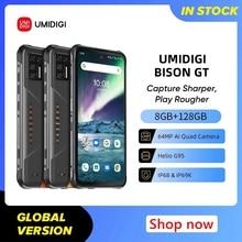 UMIDIGI BISON GT 8GB+128GB IP68/IP69K Waterproof Helio G95 Rugged Phone 64MP AI Quad Camera 6.67″ FHD+ 33W Charger Smartphone