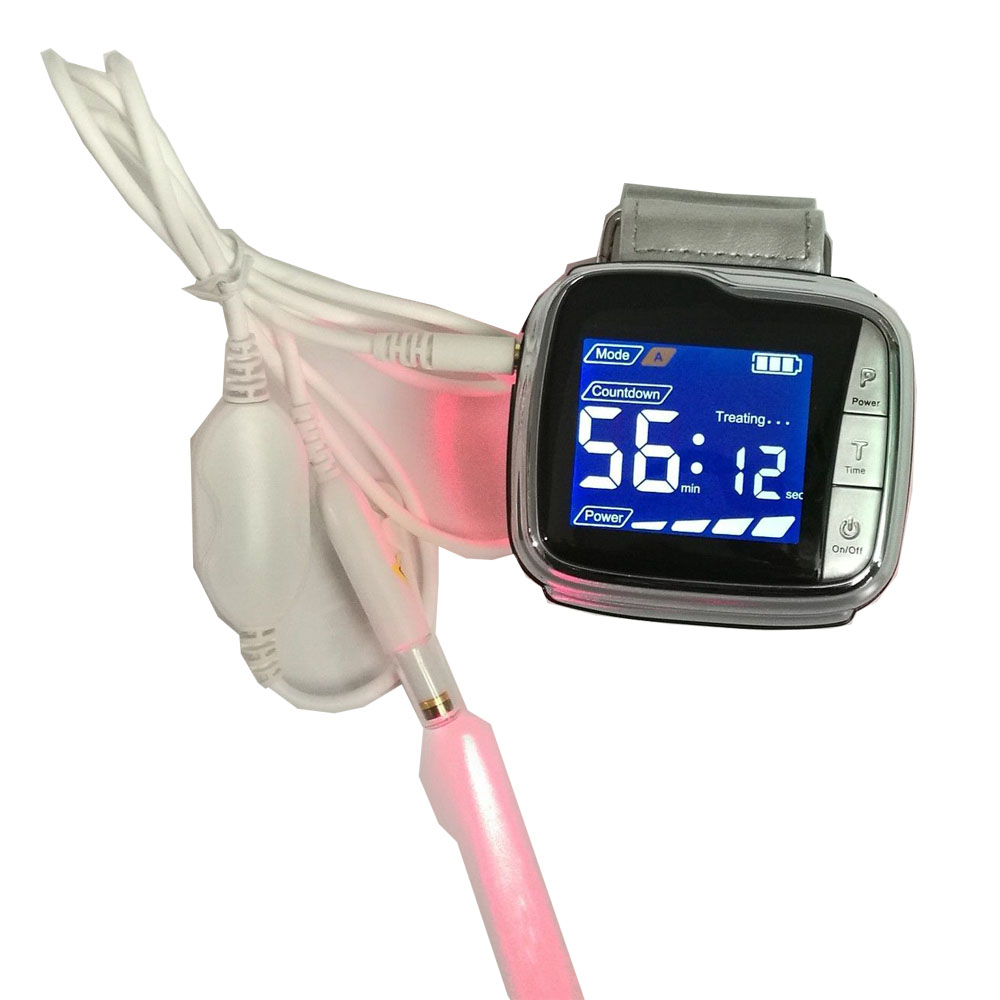 Health laser therapy equipment reduce high blood pressure apparatus diode wrist watch