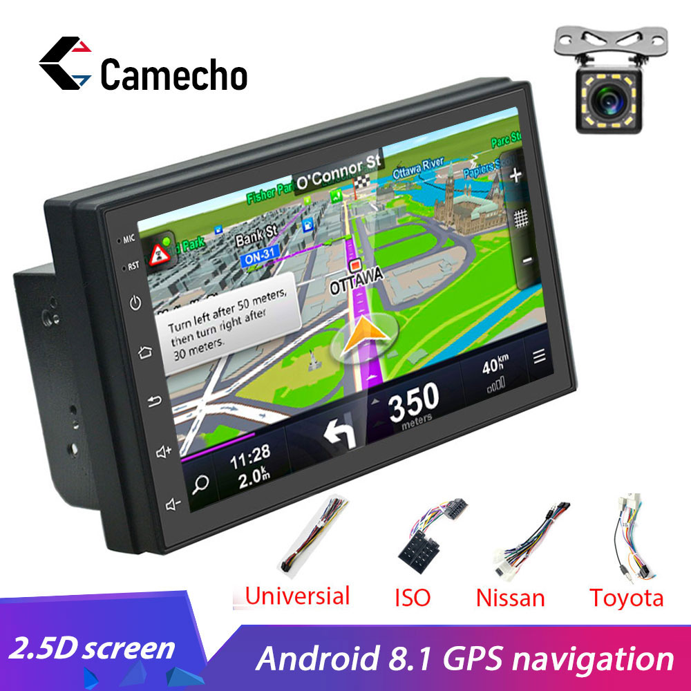 Camecho <font><b>2din</b></font> auto radio Android8.1 aoturadio <font><b>GPS</b></font> Navi WiFi Bluetooth MirrorLink Auto Multimedia Player für Universal Auto Stereo image