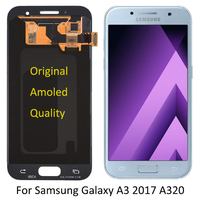 Original Super Amoled For Samsung Galaxy A3 2017 A320 SM A320F LCD Screen A320FL A320Y mobile phone Glass Panel Replacement