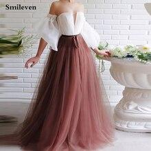 Женское вечернее платье со смайликом с пышными рукавами и открытыми
