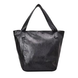 Image 5 - Burminsa Vintage grande capacité sac à bandoulière souple pour femmes bureau dames grand travail A4 sacs à main de haute qualité en cuir PU fourre tout sacs