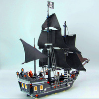 16006 875pcs Pirates of the The Black Pearl Ship Model Building Blocks Compatible with 4184 Children kids Toys Gifts home