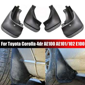 Car Mud Flaps Front Rear Mudguard Splash Guards Fender TPO Plastic Mudflaps For Toyota Corolla 4dr AE100 AE101/102 E100 image