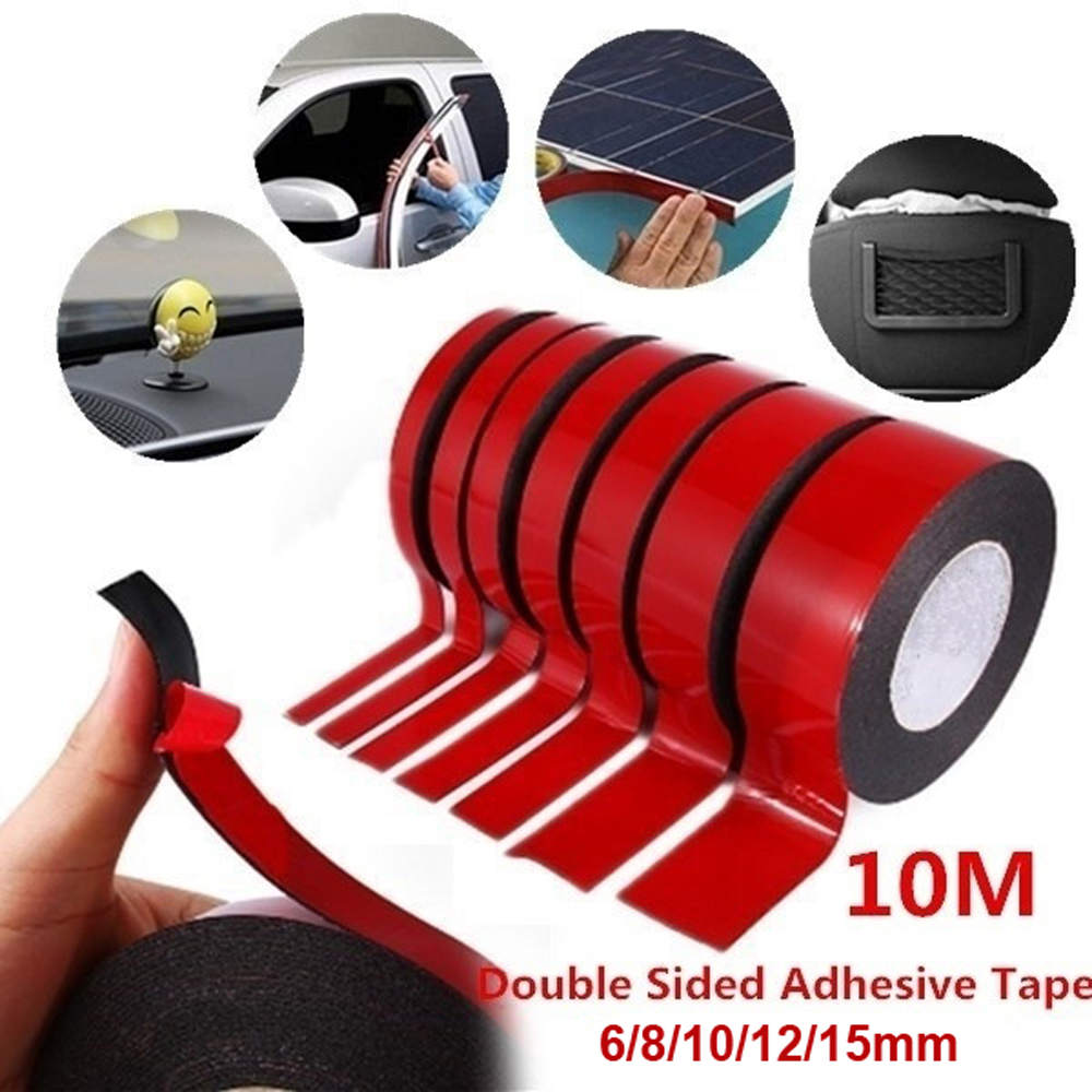 1pc 10M Multifunction Car Double Sided Adhesive Tape Foam Tape Sticker 6/8/10/12/15MM