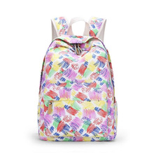 Ladies Canvas Backpack Graffiti Canvas Print Breathable Backpack New Boys And Girls Student Bags Leisure Travel Backpacks jianxiu women female backpack girls schoolbags canvas graffiti backpacks bag dots print travel student bags big capacity