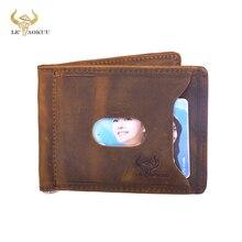 Purse Wallet-Card Pocket Money-Clip Photo-Holder Magnetic Male Front 1098 Case-Design