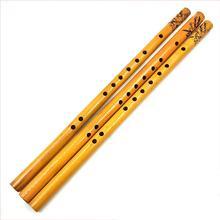44 см китайская Вертикальная 6 отверстий бамбуковая флейта традиционная флейта музыкальный инструмент
