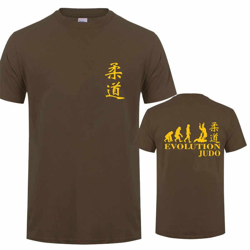 Funny Evolution Judo T Shirt Kurzarm Baumwolle Cooles Design Judo T-shirt Männer T Shirts OZ-389