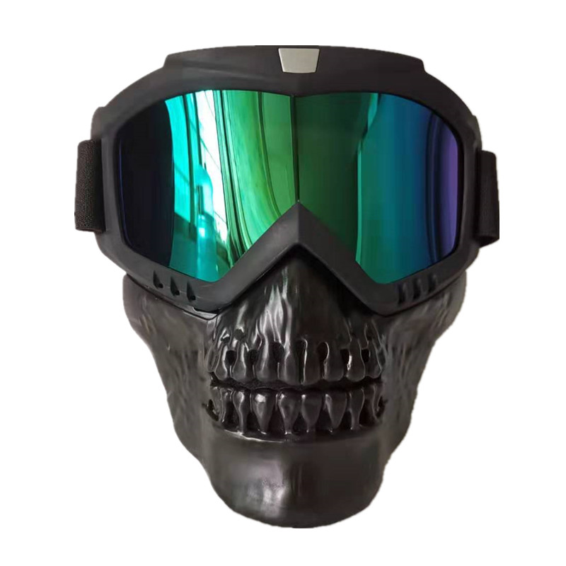 Skull Masks Skiing Eyewear Winter Windproof Motocross Sunglasses Snow Ski Glasses Snowmobile Goggles Skiing Mask