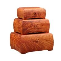 Rosewood Handmade Storage Box Organizer Jewlry Wood Cosmetic Makeup Storage Box Superior Quality Organizer Classical Three piece