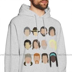 Image 2 - De Walking Dead Hoodie De Walking Dead Hoodies Oversized Outdoor Trui Hoodie Zwart Lange Winter Mannelijke Katoen Cool Hoodies