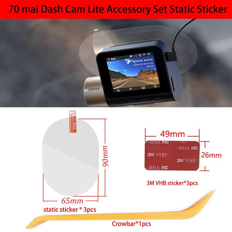 Для 70mai Dash Cam Lite 3M пленка и статические наклейки, подходит для 70mai Lite Car DVR 3M держатель пленки 3 шт.