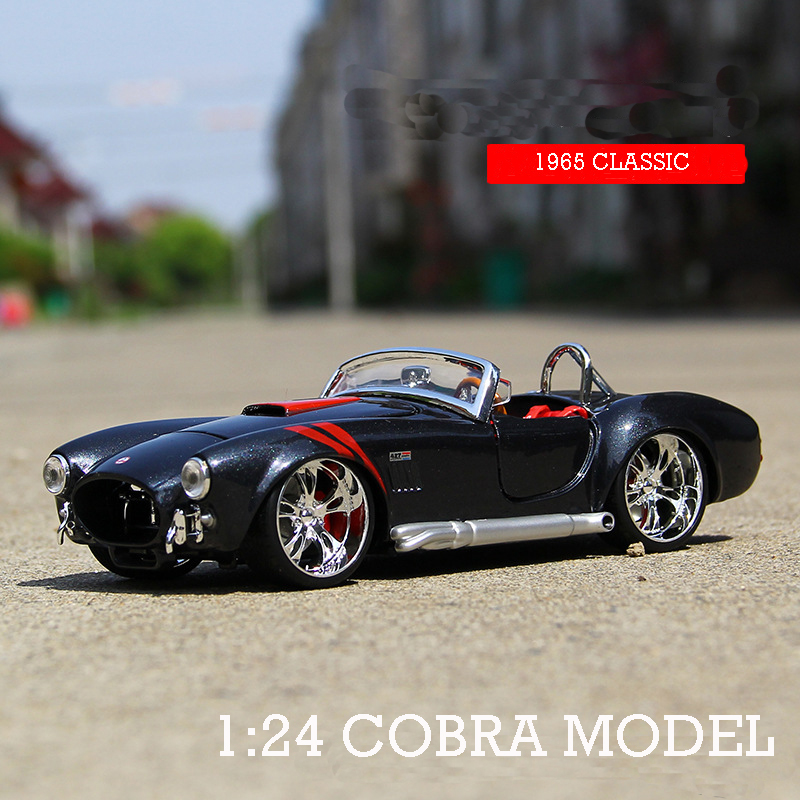 1:24 1965 Shelby Cobra 427 Alloy Car Model Alloy Metal Diecast Classic Roadster Car For Kids Birthday Gift Toys Collectible