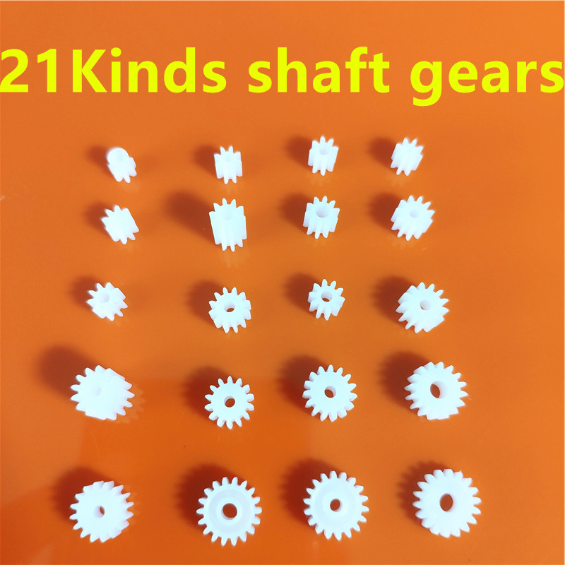 All Kinds Plastic Shaft Gears Group 2 Motor Teeth Axis Gears Sets 1mm 2mm Hole Diameter DIY Helicopter Robot Toys Dropshipping
