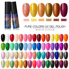 Nail Vision 5ml Nail Gel Polish UV LED Semi Permanente Sok Off Nail Art Decoraties Langdurige Gel Nail poolse Varnish(China)