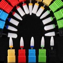 Ceramic Nail Drill Bit Electric Nail Milling Cutter For Manicure Pedicure Machine Removing Gel Polish Nail Files Tool TRTDC1-13