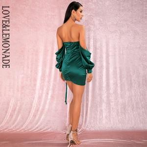 Image 5 - LOVE & limonada vestido verde sexi con hombros descubiertos, minivestido de fiesta, mangas sueltas, Ceñido