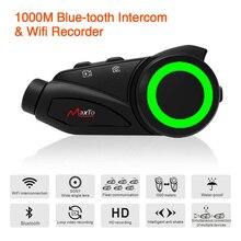 Maxto M3 עמיד למים 6 רוכבים אופנוע Bluetooth WIFI וידאו מקליט אוניברסלי זיווג עבור מלא/חצי פנים קסדת אינטרקום DVR