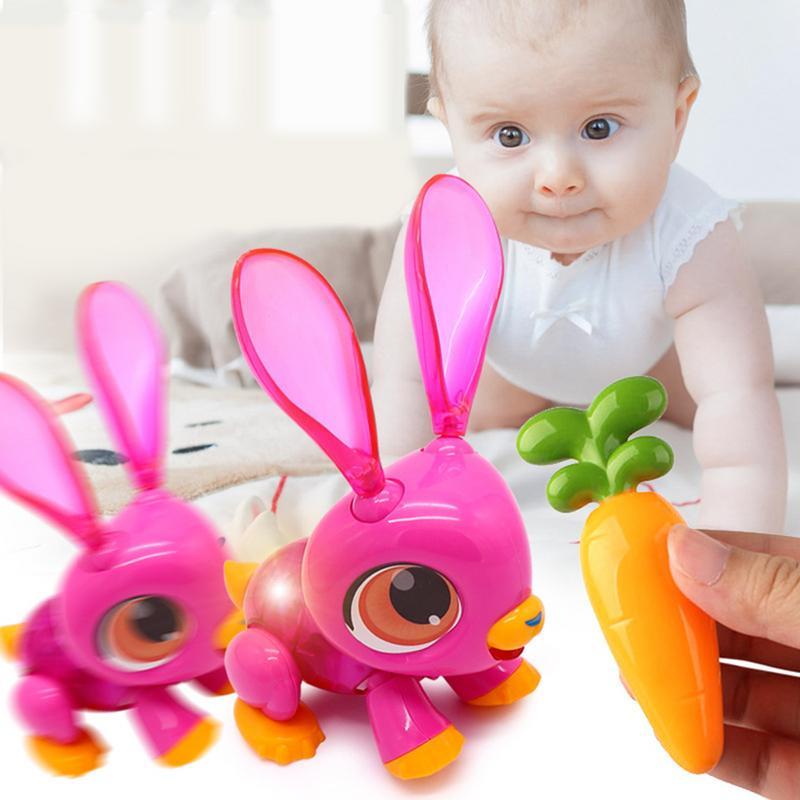 Nuevo juguete eléctrico para niños inducción interactiva electrónica mascota zorro conejo dinosaurio en forma de DIY 3D rompecabezas juguete de bebé regalo