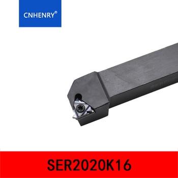 SER1616H16 SER2020K16 SER2525M16 Lathe Cutter External Thread Turning tool Holder For 16ER AG60 Carbide Insert 10pcs 16er ag60 carbide insert threading lathe turning tool holder t15 wrench
