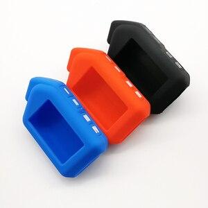 Image 5 - Funda de silicona para llave de coche, para Sher khan Mobicar A Mobicar B, versión rusa, LCD bidireccional, mando A distancia, llavero con alarma