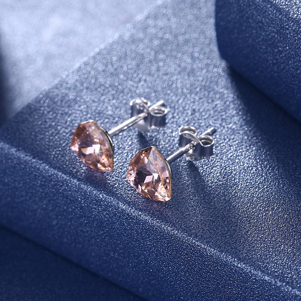 925 argent autriche cristal femmes clous d'oreilles Bizuteria Kolczyki bijoux géométrique Orecchini 925 Brincos pierre précieuse pour les femmes