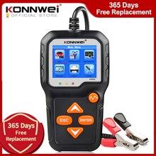 KONNWEI KW650 Tester batteria moto auto 12V 6V analizzatore sistema batteria 2000CCA ricarica strumenti di prova a manovella per lauto