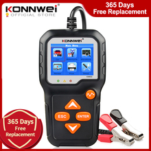 KONNWEI KW650 samochód bateria motocyklowa Tester 12V 6V System baterii analizator 2000CCA ładowania rozruchu narzędzia testowe dla samochodu