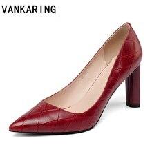 цена на print leather women pumps high heels party wedding shoes woman quality elegant office pumps female women party shoes sexy pumps
