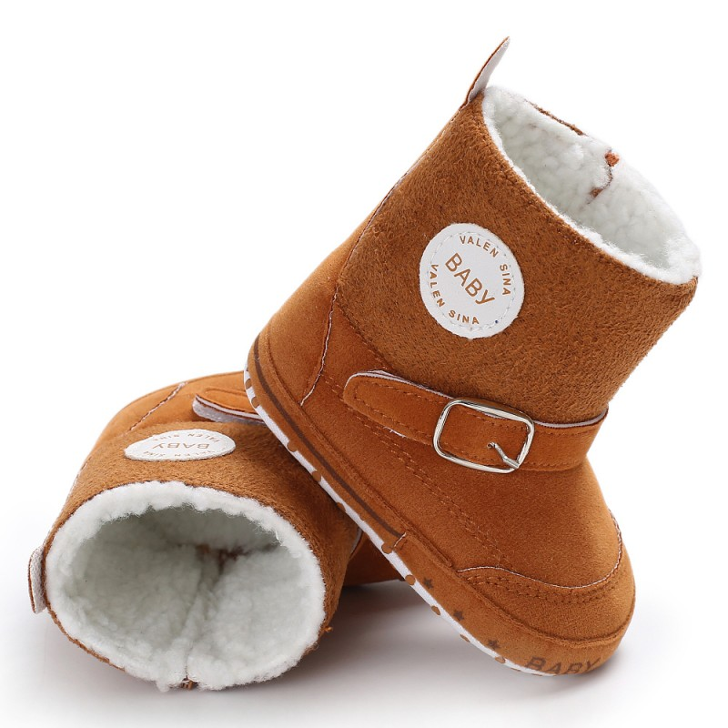 Newborn Baby Winter Boots Infant Toddler Girls Boys Snowfield Shoes Crib Bebe Kids Super Keep Warm Zipper  Booties