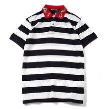 Top-Tee Shirt Skateboard Cotton Polo Embroidered Novelty Bee-Snake-Fashion Punk Hip-Hop