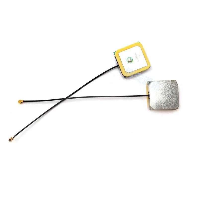 1pcs GPS + Glonass Antenna GNSS Active Ceramics Antenna Outdoor Positioning High Gain 35dbi 12cm 25*25*4mm IPEX 3