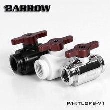 Barrow TLQFS-V1, Mini Ball Valves, Multiple Colour Aluminium Handle, Female To Water Cooling Valve.