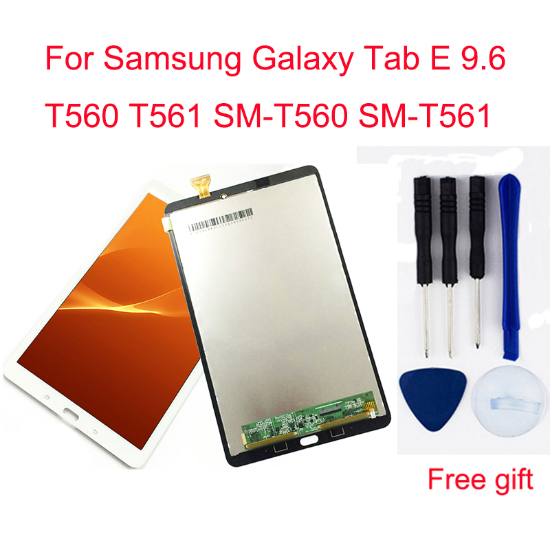 For Samsung Galaxy Tab E 9.6 T560 T561 SM-T560 SM-T561 Touch Screen Digitizer Sensor + LCD Display Panel Monitor Assembly