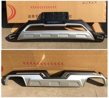 High quality KIA Sportare R 2018-2020 plastic ABS Chrome Front&rear Bumpers Skid Protector Molding 2pcs(front + back)