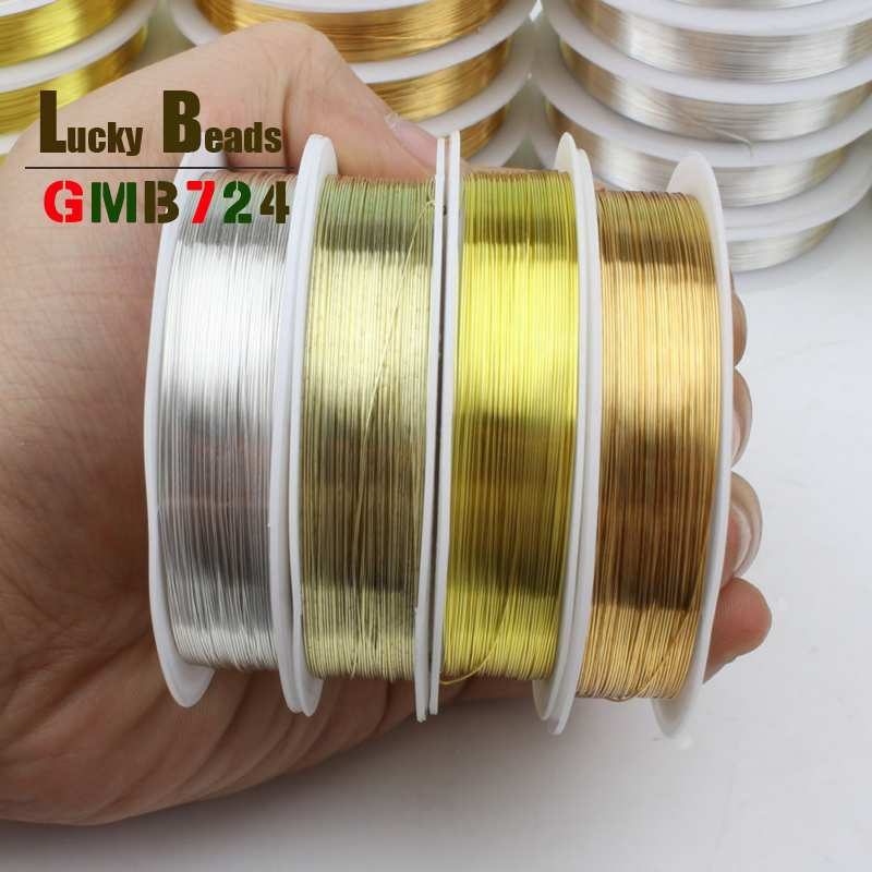 Silver Gold Copper Wire Beading Cord 0.3mm/0.4mm/0.5mm/0.6mm For Jewelry DIY Craft Making Cord String Accessories High Quality