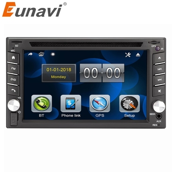Eunavi 2 din universal Car Multimedia Radio DVD Player GPS Navigation In dash Autoradio Stereo Head Unit automotivo touch screen image
