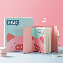 A6 Cute Notebook Self-Filling Annual Calendar Planner Punch Card Day Plan Month Plan With Pen Color Stickers Stationery Gift Box tanie tanio NoEnName_Null KJ01