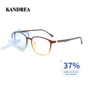 Image 1 - KANDREA 2020 Anti Blue Ray Eyeglasses Frame Acetate Square Glasses Frames Anti Blue Light Eyewear Clear Lens Optical Spectacles
