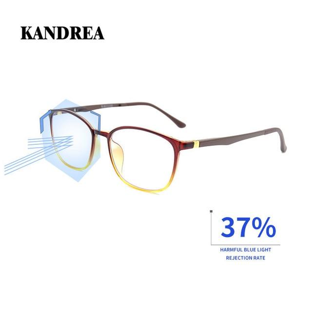 KANDREA 2020 Anti Blue Ray Eyeglasses Frame Acetate Square Glasses Frames Anti Blue Light Eyewear Clear Lens Optical Spectacles