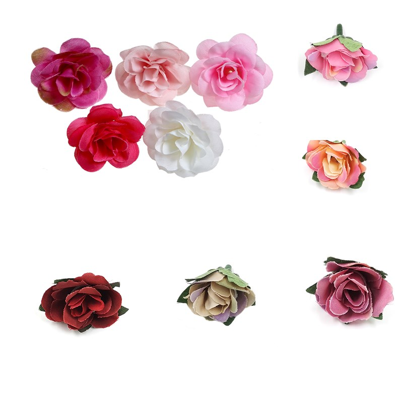 Kids Headwear Artificia Flowers Wreath DIY Hair Accessories Girl Garland Baby Headbands For Wedding Party craft decoration 10pcs in Artificial Dried Flowers from Home Garden