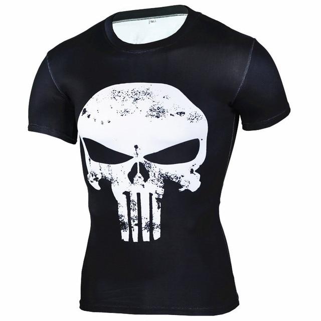 Nouveau réservoir noir séchage rapide t-shirt homme panthère course chemise hommes compression collants à manches courtes gymnase t-shirt mâle vélo t-shirt