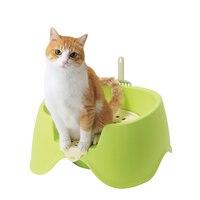 Large Wc Cat Litter Box Closed Toilet Tray Toilet Training Cat Kit Sandbox Lettiera Gatto Chiusa Inodoro Plastic Supplies EE50MC