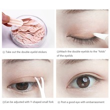 цена на 150Pcs Professional Makeup Double Eyelid Sticker Eye Makeup Tape Sticker Basic Tools Eyeliner Sticker