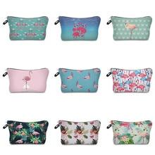 где купить Vogvigo Floral Flamingo Printing Makeup Bags With Multicolor Pattern Cosmetics Pouchs For Travel Ladies Pouch Women Cosmetic Bag по лучшей цене