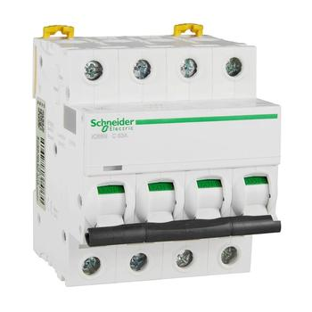 9 12 ways plastic distribution box for circuit breaker indoor on the wall Original export IC65N distribution protection small circuit breaker C curve 4P 63A DIN rail installation